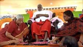 Padha Poojai to Arul Thiru AMMA with 108 Guru Potri