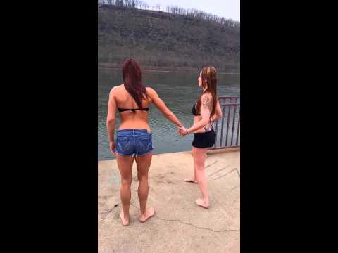 Cold water challenge Pennsylvania girls