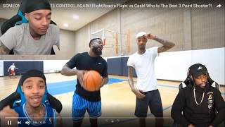 Reacting To FLIGHT THREW THE BALL AFTER I BEAT HIM IN 3 POINT SHOOTOUT HAHA!