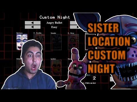 FNAF:Sister Location Custom Night #1 YENİ ANİMATRONİKLER ve ÖZELLİKLERİ