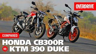 Honda CB300R vs KTM 390 Duke | COMPARISON | Feat. Royal Enfield Interceptor 650 I OVERDRIVE