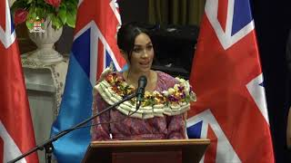 The Duke and Duchess of Sussex visit to the University of the South Pacific.