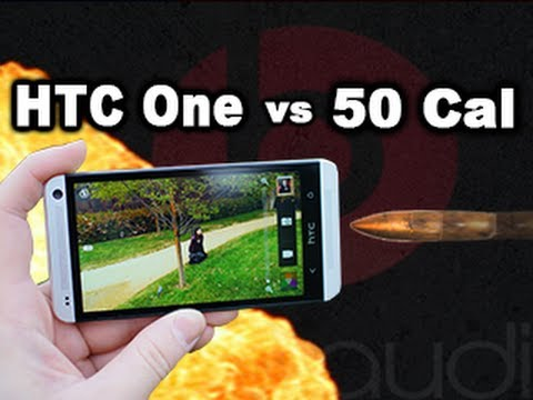HTC One vs 50 Cal - Drop test / Torture test in slow motion RatedRR Slow Mo - Tech Assassin: HTC One