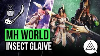 Monster Hunter World | New Insect Glaive in Depth Gameplay