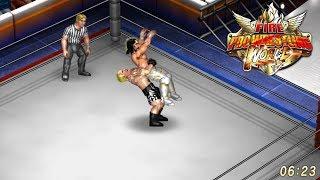 Fire Pro Wrestling World - Brock Lesnar vs. Seth Rollins