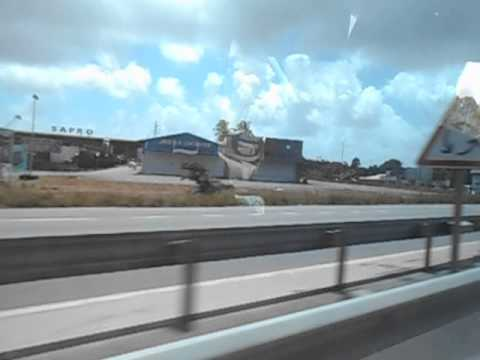 Driving into Cayenne   French Guyana   June 2014
