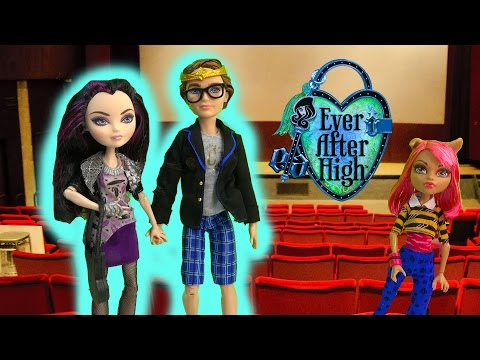 Ever After High Movie Date Night Dexter Charming Raven Queen Doll Set Playset Toy Unboxing Review