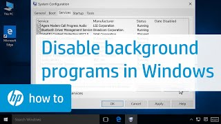 Disabling Programs Running in the Background in Windows