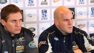 Brumbies v Waratahs : Larkham & Moore chat to the press | Super Rugby Video