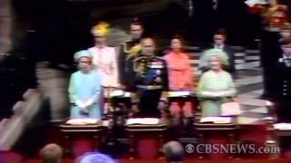 Diana and Charles' royal wedding prayer
