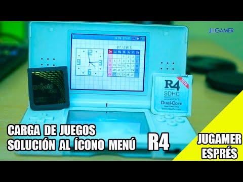 R4:  CARGAR JUEGOS Y SOLUCIONAR EL  PROBLEMA DE MENU - Nintendo DS