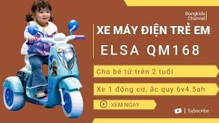 Xe máy điện công chúa Elsa QM168 | WWW.BONGKIDS.COM