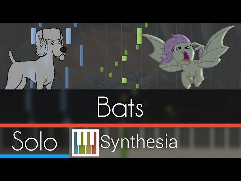 Bats! (Stop the Bats) - |SOLO PIANO COVER w/LYRICS| -- Synthesia HD