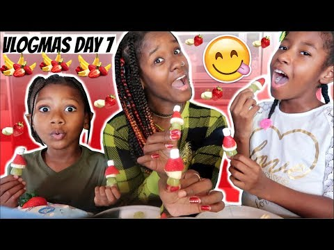 THE KIDS TEST OUT CUTE CHRISTMAS TREAT 🎅🏽(VLOGMAS DAY 7) | LACY'S FILES