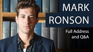 Mark Ronson | Full Address and Q&A | Oxford Union