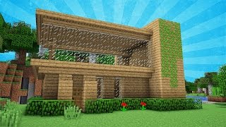 Minecraft: Starter Modern House Tutorial - How to Build a House in Minecraft