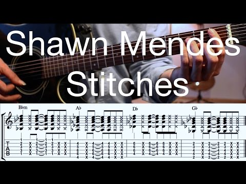 Notes on guitar for stitches