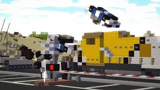 Trying to Stop The GTA V Train Minecraft Animation
