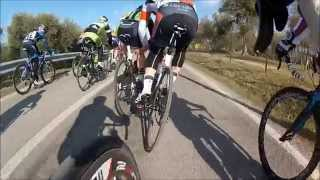 UDACE Ciclismo 2^ tappa a Bardolino (VR) - 26/02/2012 Senior (Ferrini on-board camera)