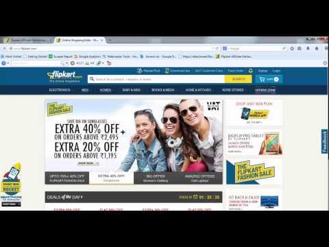 Flipkart Affiliate Program Review /Signup / Earnings
