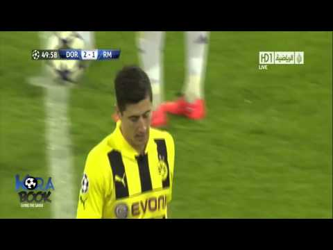 Borussia Dortmund 4-1 Real Madrid (Lewandowski 4 goals)