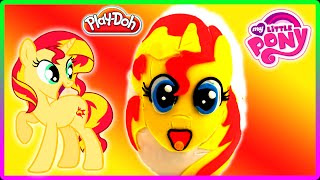 ♥ My Little Pony Sunset Shimmer Giant Play Doh Surprise Egg and Toys Frozen LPS