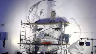 Pow Wow Hawaii Fundraiser Gala: Marilyn mural in 7 minutes