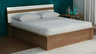 Wooden double bed ideas | Room furniture designs | Indian bed ideas