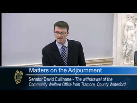 David Cullinane - Reasons justifying closue of Community Welfare offices are 'laughable'