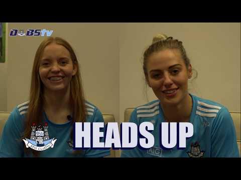 Dublin Ladies stars Ciara Trant & Nicole Owens play Dubs TV's Heads Up- Part 1