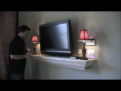 hidden wire mantel installation youtube. Black Bedroom Furniture Sets. Home Design Ideas