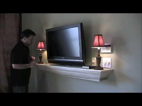 Hidden Wire Mantel Installation Youtube