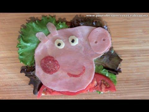Sandwich Peppa Pig - Recetas para niños