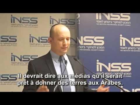 Bennett: je ne donnerai aucune parcelle  de la Terre d'Israel aux Arabes