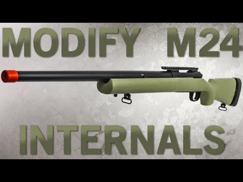 Airsoft GI - Modify M24 Pre-Upgraded Bolt Action Sniper Rifle Internal Review