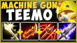 ACHIEVING MAX TEEMO DPS?? MACHINE GUN TEEMO IS UNBEATABLE! TEEMO TOP SEASON 10! - League of Legends