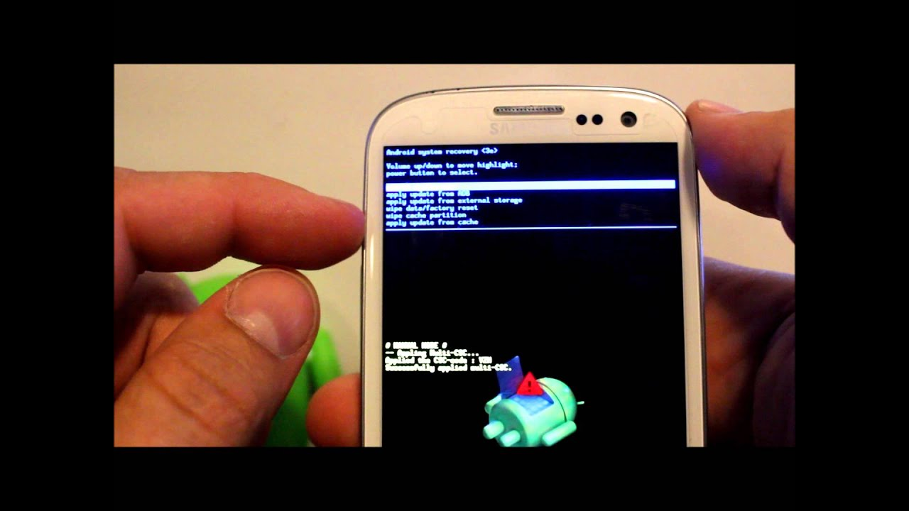 How To Enter Android Recovery Amp Factory Reset The Galaxy