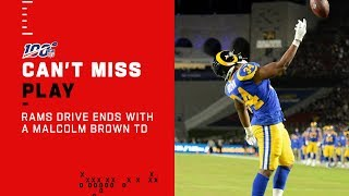 Malcolm Brown TD Caps of Rams Drive