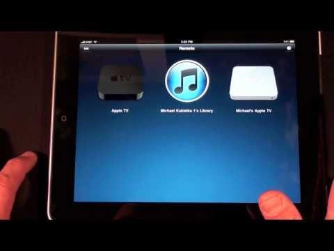 Apple Remote App (iPad): Demo
