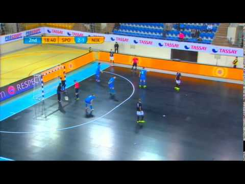 Sporting-Nikars. UEFA Futsal Cup Elite round. 23.11.2014