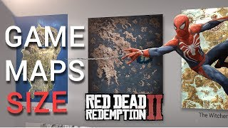 Video Game Maps SIZE comparison (RDR2 Spiderman Ps4)