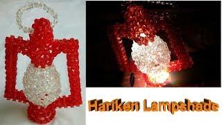 পুতি দিয়ে হারিকেন তৈরী/How to make beaded hariken(part-1)/beaded lampshade