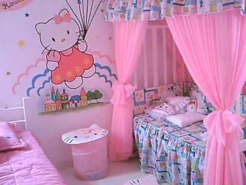 Cuarto de hello kitty youtube - Cortinas de hello kitty ...