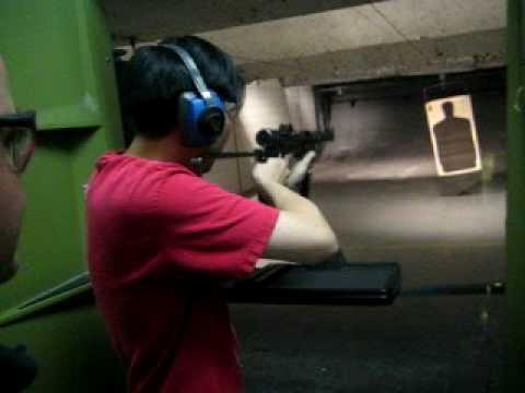 Jason Kim shooting Swedish K 9mm Machine Gun