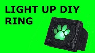 how to make cat noir cosplay light up ring. video tutorial how to make cat noir cosplay ring HD