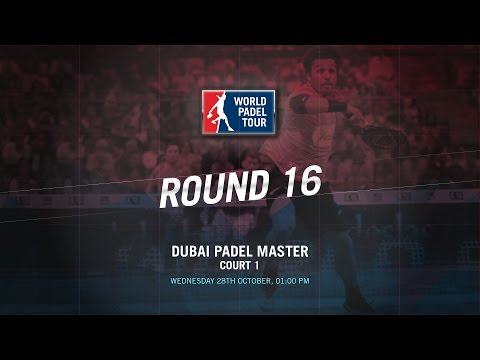 LIVE (ENGLISH)  | MEN'S ROUND OF 16 Dubai Master | World Padel Tour 2015