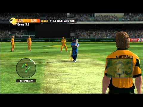 Cricket International 2010 Xbox 360 Gameplay Australia Vs Sri Lanka