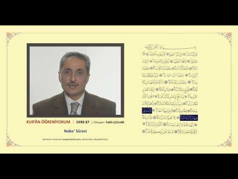 Kuran Öğreniyorum 87 -  Nebe Suresi (Fatih Çollak)