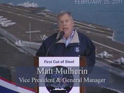 On February 25, 2011, the ceremonial first cut of steel for the CVN 79 was made at Newport News Shipbuilding. The CVN 79 will be second in the Ford-class of ...