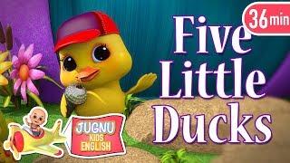 education video for kids - English Rhymes - Five Little Ducks by Jugnu Kids